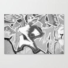 GRAFFITI 3 - SCHWARZ/WEISS Canvas Print
