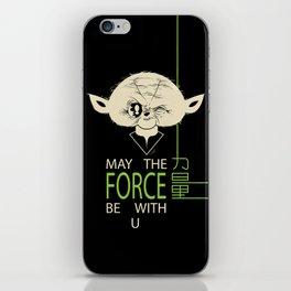 Starwars Yoda - May The Force Be With U iPhone Skin