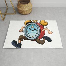 Clock Man Running Rug