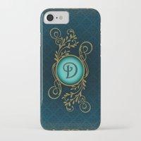 monogram iPhone & iPod Cases featuring Monogram D by Britta Glodde