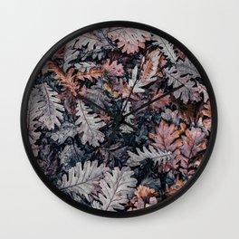 Dead Leaves Wall Clock