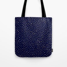 Dotted Gold & Midnight Tote Bag