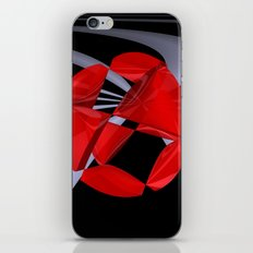 red-white-black -9- iPhone & iPod Skin