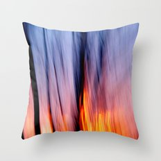 Out of the Blue into the Fire #I Throw Pillow