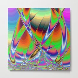 Sailing Boats in Rainbows Metal Print