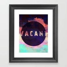 Vacant - Galaxy Eyes & Garima Dhawan Collaboration (VACANCY ZINE) Framed Art Print