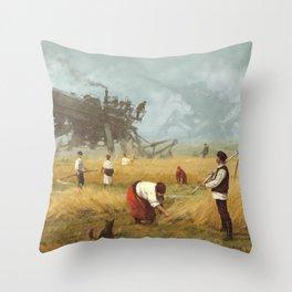 1920 - advanced harvest Throw Pillow