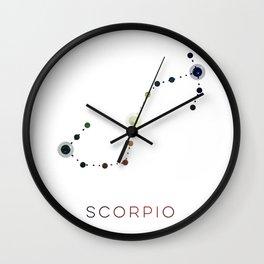 SCORPIO STAR CONSTELLATION ZODIAC SIGN Wall Clock