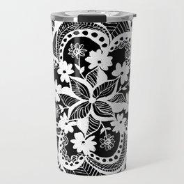 black nad white pattern Travel Mug