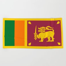 Flag of sri Lanka -ceylon,India, Asia,Sinhalese, Tamil,Pali,Buddhist,hindouist,Colombo,Moratuwa,tea Beach Towel