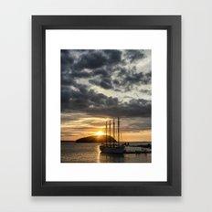 Sunrise Bar Harbor Maine Framed Art Print