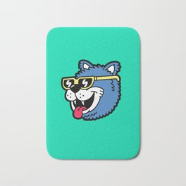 Cool Bear (portrait) Bath Mat