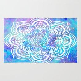 Mandala Pink Lavender Aqua Galaxy Space Rug