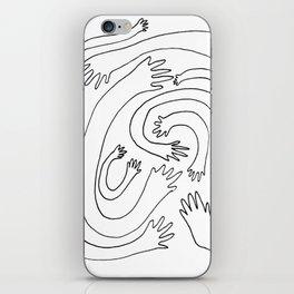 Minimalist Hand Maze iPhone Skin