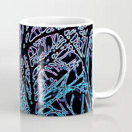 Tangled Tree Branches in Blue and Teal Coffee Mug