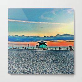 Lifeguard Shack on Siesta Key Metal Print