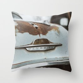 Vintage Plymouth Throw Pillow