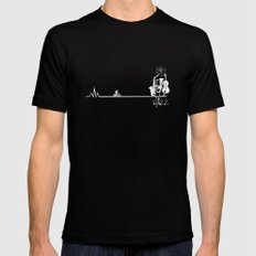 Jazz civilization LARGE Black Mens Fitted Tee