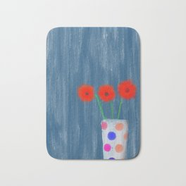 abstract flower vase Bath Mat