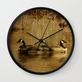 Geese on the Bashakill Wall Clock