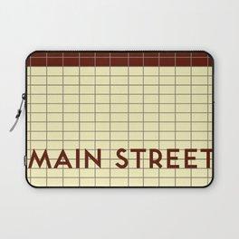 MAIN STREET   Subway Station Laptop Sleeve