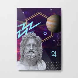 Ancient Gods and Planets: Jupiter Metal Print