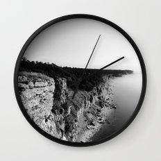 Where sea meets land Wall Clock