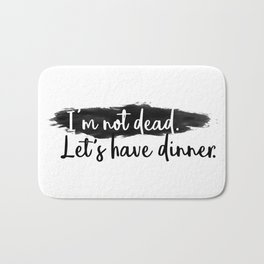 Dinner Invitation Bath Mat