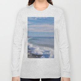 turquoise waves Long Sleeve T-shirt