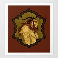 baphomet Art Prints featuring Baphomet by Abigail Larson