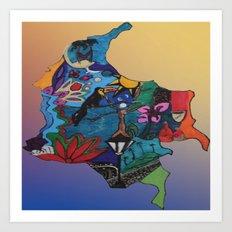 Colombian doodle Art Print