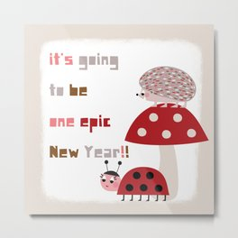 It's going to be one epic New Year!! 2018 Metal Print
