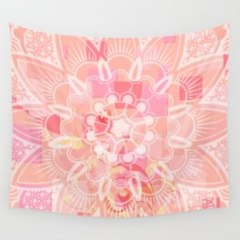 Abstract Peach Flower Wall Tapestry