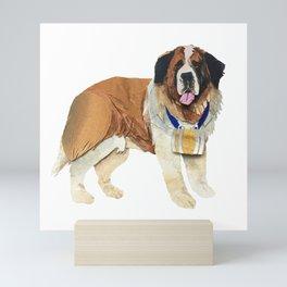The Big Brown Saint Bernard Mini Art Print