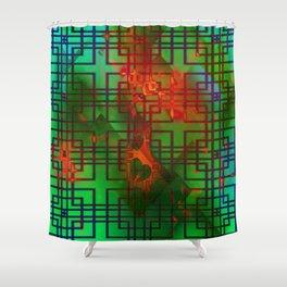Shambala Matrix by Kenny Rego Shower Curtain