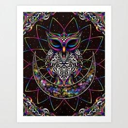 Electro Owl Art Print
