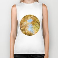 rush Biker Tanks featuring Gold Rush by Kim Bajorek