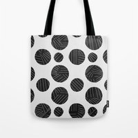polka Tote Bags featuring polka by spinL