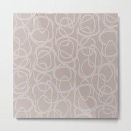 Interlocking Tan | Pattern Metal Print