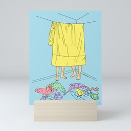 suspended blanket Mini Art Print