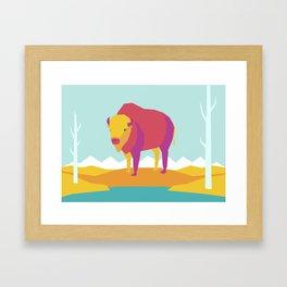 The Bison Framed Art Print