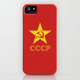 Star Hammer Sickle CCCP Design iPhone Case