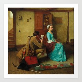 THE SILHOUETTE by NORMAN ROCKWELL Art Print