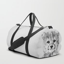 Baby Cheetah - Black & White Duffle Bag