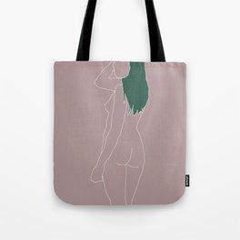 Mauve-Green Tote Bag