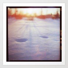 Winter trace Art Print