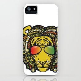 Jamaican Lion product Gift for Rastas & Reggae Music lovers iPhone Case