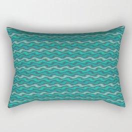 Rippled Aqua Rectangular Pillow