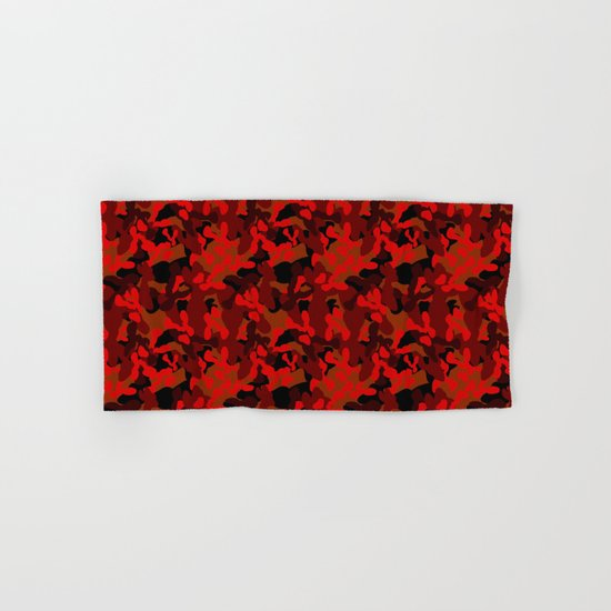 Camouflage (Red) Hand & Bath Towel