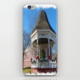 Gazebo & Courthouse Dressed for the Holidays iPhone Skin